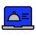 Laptop Food Cloche Icon
