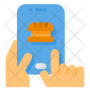 Food Order Mobile Payment Icon