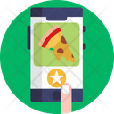 Food Delivery Phone Online Delivery Service Icon