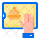 Mobile Food Delivery Icon