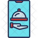 Online Food Ordering Cell Phone Food Icon