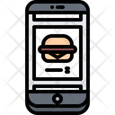Phone Burger Shop Icon