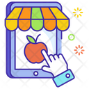 E Commerce Online Shop Online Food Shopping Icon