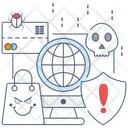 Hacking Darknet Ransomware Icon