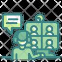 Online Friend Videocall Icon
