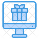 Online Gift Computer Package Icon