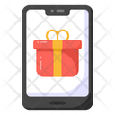 Online Gift Mobile Gift Online Shopping Icon