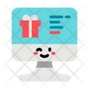 Online Gift Shopping Gift Buy Gift Icon