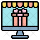 Online Shopping Online Gift Computer Icon