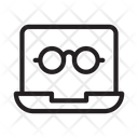 Glasses Laptop Digital Icon