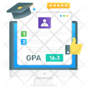 Online Gpa Online Result Report Card Icon