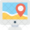 Online Gps Monitor Icon