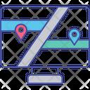 Online Navigation Online Location Online Map Service Icon