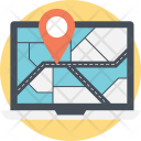 Online Map Monitor Icon