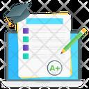 Online Grade Online Result Sheet Exam Grade Icon