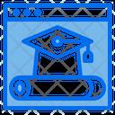 Graduate Website Online Icon