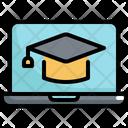 Graduate Education Cap Icon