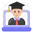 Online Graduate Online Degree Online Diploma Icon