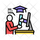 Online Graduate Graduate International Icon