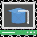Online Graduate Mortarboard Icon