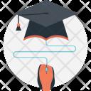 Online Graduate Graduation Icon
