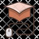 Online Graduation Knowledge Icon