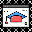 Online Graduation Icon