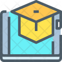 Digital Learning Online Icon