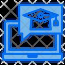 Graduate Laptop Online Icon