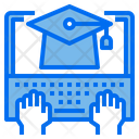 Graduate Laptop Hand Icon