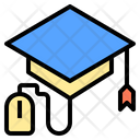 Graduation Cap Digital Learning Icon