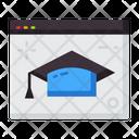 Website Online Graduation Online Study Icon
