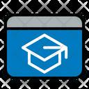 Lessons School Graduation Online Icon