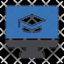 Online Graduation Degree Online Icon