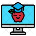 Online Graduation Learning Online Icon