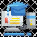 Online Graduation Online Degree Diploma Icon