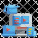Online Graduation Education Website Icon