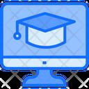 Online Graduation Online Learn Icon