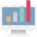 Online Graph Infographic Graph One Web Icon