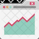 Online Graphs Infographics Analytics Icon