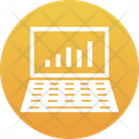 Online Graph Business Laptop Icon