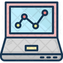 Online Graph Infographics Laptop Icon