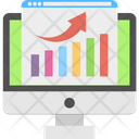 Online Graph Analyze Seo Performance Icon