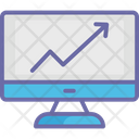 Online Graph Infographics Monitor Icon