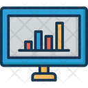 Online Graph Bar Chart Monitor Icon
