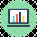 Online Graph Infographics Laptop Icon