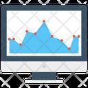 Online Graph Graph Monitor Screen Icon