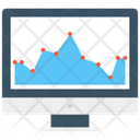 Online Graph Graph Monitor Screen Icon