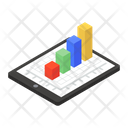 Online Graph Growth Chart Statistical Analysis Icon