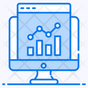 Online Graph Online Data Data Analytics Icon